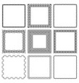 set square frames from braided lines vector image vector image