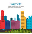smart city and icon set technology and internet vector image