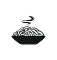 Spaghetti or noodle simple black icon on white vector image vector image