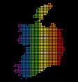 spectrum dotted lgbt ireland republic map vector image