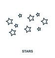 stars icon flat style icon design ui vector image vector image