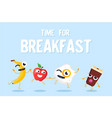 time for breakfast - modern colorful vector image vector image