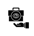 transparent black glyph icon vector image vector image