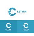 unique letter c logo design template vector image vector image