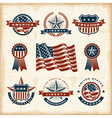 Vintage american labels set vector image