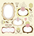 Vintage floral frames vector | Price: 1 Credit (USD $1)