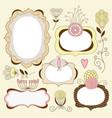 vintage floral frames vector image vector image