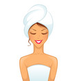 Woman spa vector | Price: 3 Credits (USD $3)