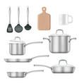kitchen utensils realistic vector image