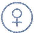 venus female symbol rounded fabric textured icon vector image