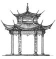 Asia logo design template Temple or religion icon vector image