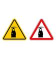 grim reaper warning sign of attention Death Danger vector image