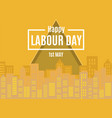 1st may happy labour day greeting card vector image