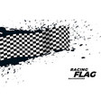 abstract racing flag grunge background vector image