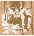 angel grunge vector image