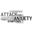 anxiety attack symptoms what you should know to vector image vector image