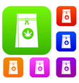 Bag with cannabis set collection