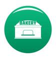 bakery trade icon green vector image