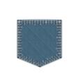 Blue Denim Pocket vector image vector image