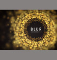 blurred luxury abstract dark background golden vector image