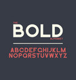 bold font vector image