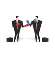 Boxing businessman Managers are boxing Office vector image vector image