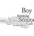 boy scout membership divisions reviewed vector image vector image