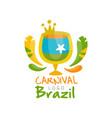 brazil carnival logo design festive party banner vector image