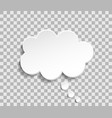 bubble cloud for think and speech paper cloud vector image vector image