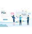business plan and strategy concept vector image vector image