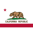 california republic flag vector image vector image