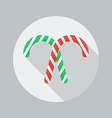 Christmas Flat Icon Candy cane vector image