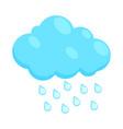 Cloud with rain drops icon cartoon style vector image vector image