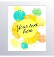 colorful brushstrokes of paint vector image vector image