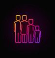 colorful family concept icon vector image vector image