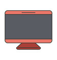 colorful silhouette of screen monitor vector image vector image