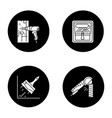 construction tools glyph icons set vector image vector image