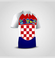 croatia flag shirt design vector image