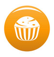 cup cake icon orange vector image vector image