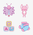 cute cartoons collection vector image vector image