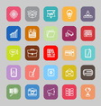 Data and information line flat icons vector image vector image