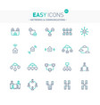 easy icons 06e networks vector image vector image