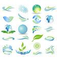 eco elements vector image vector image