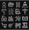 engineering building construction icons set vector image vector image