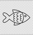 fish sign icon in transparent style goldfish on vector image