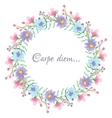 Floral template with carpe diem script vector image vector image