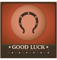 Good Luck Horseshoe Vintage poster vector image