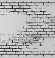 gray grunge brick wall vector image vector image