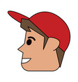 happy man wearing cap sideview icon image vector image vector image