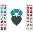 Heart Award Icon vector image vector image